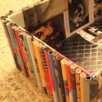 DIY Recycled Magazine Organizer