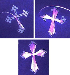 ribbon easter cross