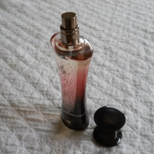 Spray bottle of perfume.