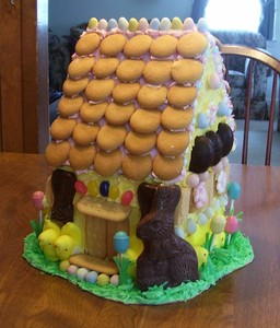 Bunny gingerbread house.