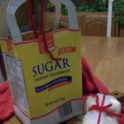 Gift bag made out of a sugar bag