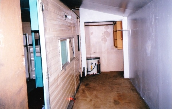 Renovating A Small Home In Alaska - trailer in box before improvements