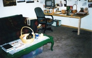 Renovating A Small Home In Alaska - built in desk/table.