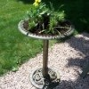 Turning a birdbath into a planter.