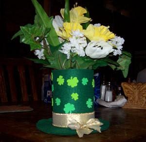 St Patricks Day Hat Centerpiece ThriftyFun