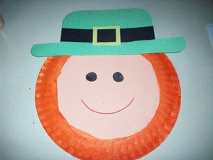 Paper Plate Leprechaun Finished