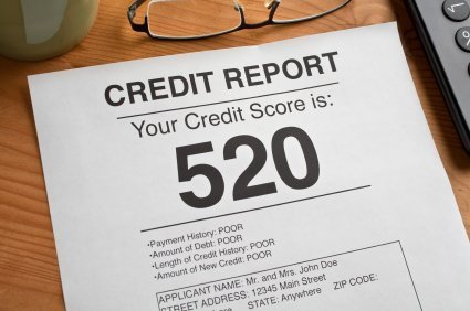 Credit Report on Table
