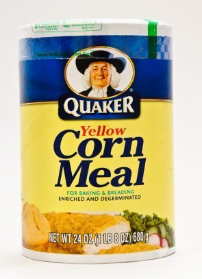 A package of cornmeal.