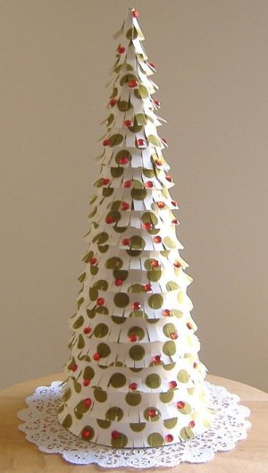 Paper Cone Christmas Tree Completed
