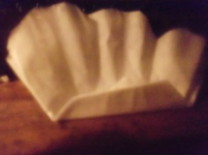 Folded Coffee Filter