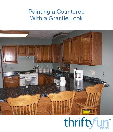 Countertop Paint Instructions : Painting a Laminate Counter Top ThriftyFun