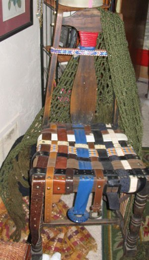 Chair seat made of belts