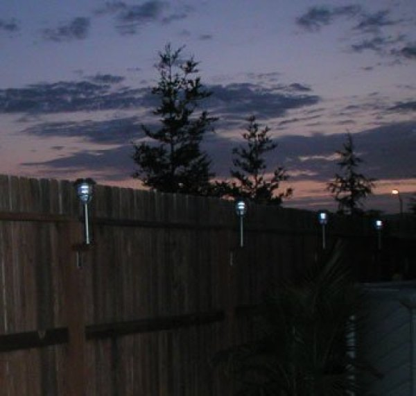 Attach Solar Lights To Your Fence Thriftyfun