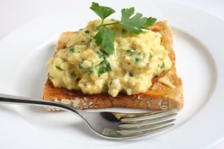 Scrambled eggs are too watery.