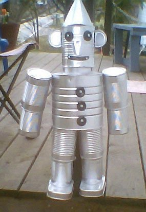 making a recycled tin man thriftyfun