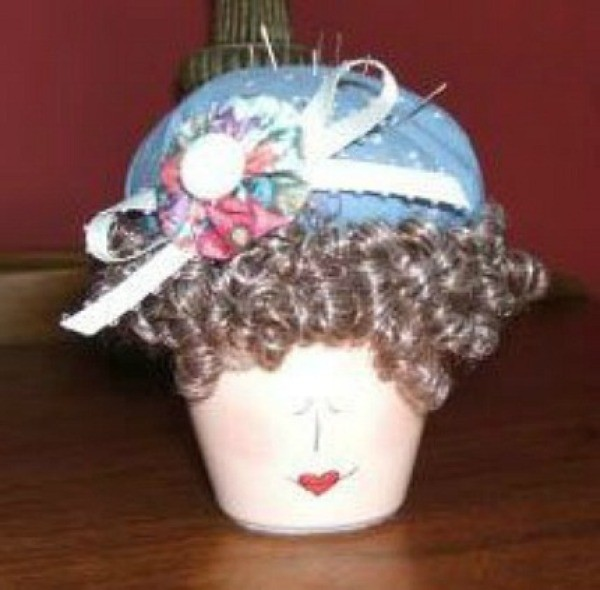 Ladies head pincushion.