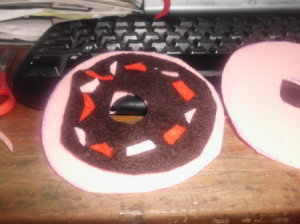 Donut Pin cushion pieces