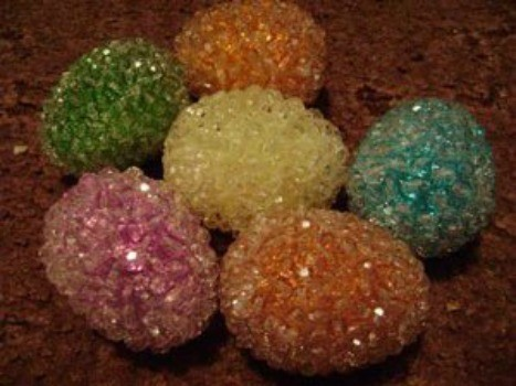 Sparkly Easter eggs.