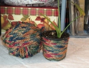 Ideas For Crocheted Chains - Planter
