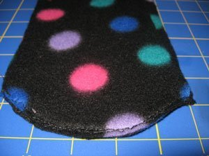 Heel seam, sewing bottom to back.