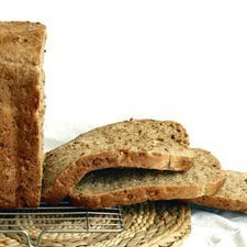 Sliced homemade whole grain bread