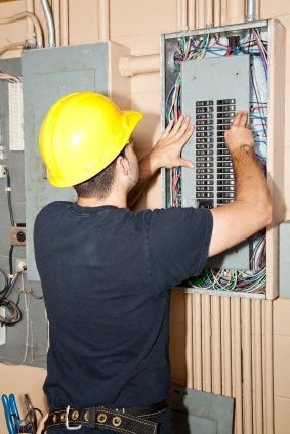 troubleshooting circuit breaker problems thriftyfun electrician working on circuit breakers