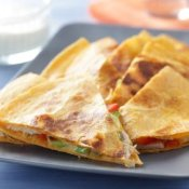 Quesadillas on a Plate