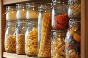 Pasta in Glass Jars