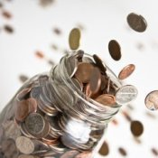 Coins Flying out of Jar