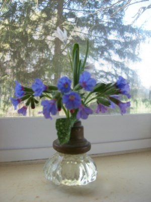 Vase made from old an old door nob.
