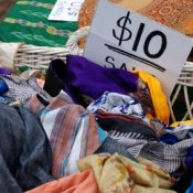 Ten Dollar Clothing Sale Bin
