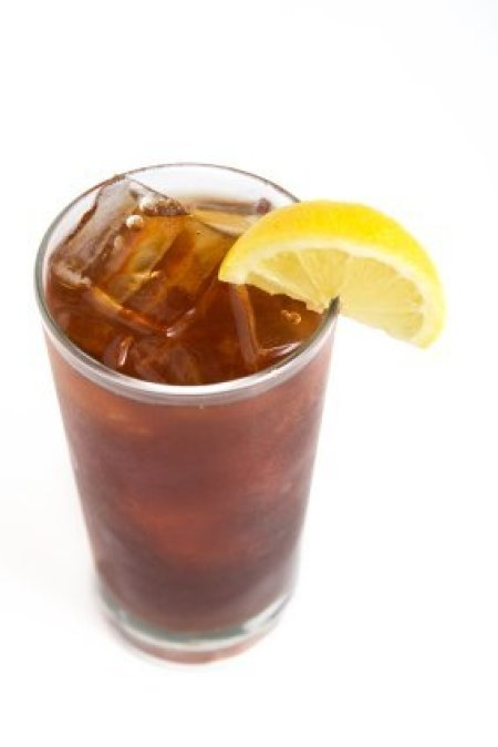 Iced Tea With Lemon Wedge