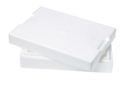 Styrofoam on White Background