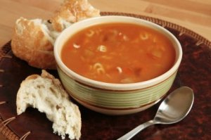 Bowl of Soup With Bread