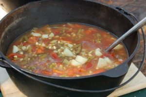 Cooking Soup in Dutch Oven