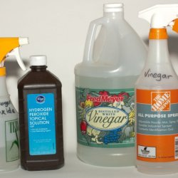 how to clean dirt with hydrogen peroxide and vinager