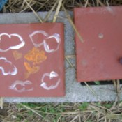 Painted terra cotta tiles