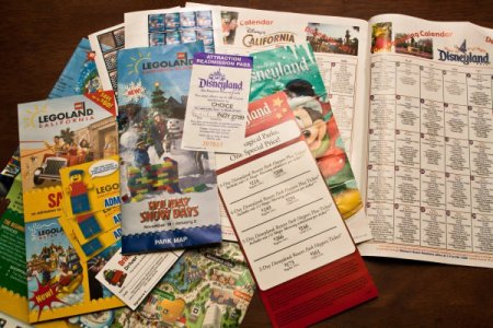 Disneyland and Legoland Brochures and Scrapbook Items
