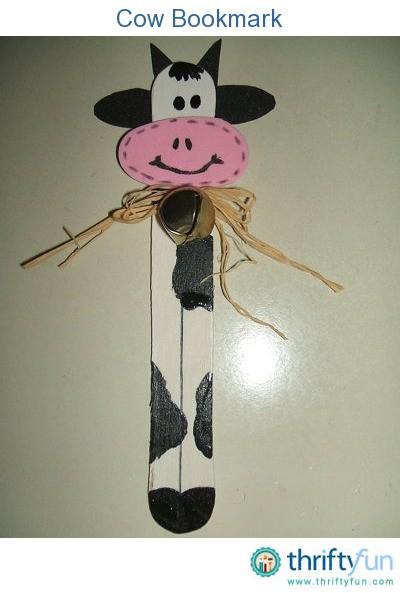 Cow Bookmark Thriftyfun