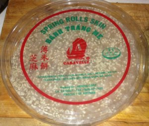 Package of Dried Vietnamese Rice Cracker