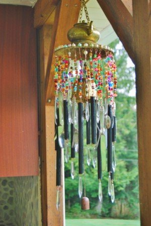 A windchime made from brass from Morocco.