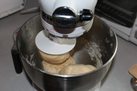 Cinnamon batter being mixed up.