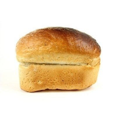 Homemade Bread on White Background