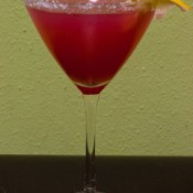 blood orange and tequila martini