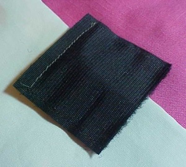 Section of Velcro stitched.