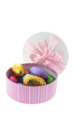 Easter Gift Box With Chocolate Eggs Inside