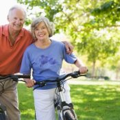 Retired Couple on Bike Ride