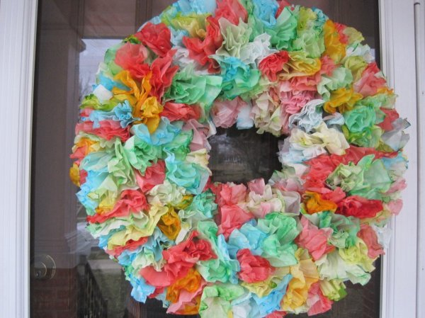 Coffee Filter Wreath Finished