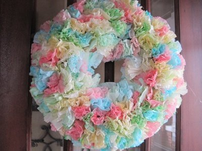 Making a Coffee Filter Wreath