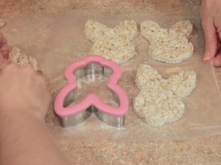 Cookie Cutter Rice Krispy Bunnies
